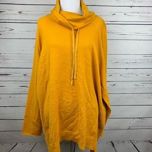 United States Sweater 3X Yellow Pullover Cowl Neck